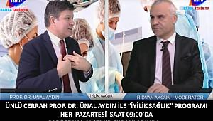 Ünlü cerrah Ünal Aydın Kanal İzmir TV'de