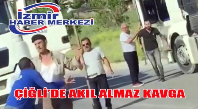 İzmir trafiğinde tırpanlı tır şoförü dehşeti!