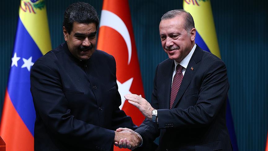 Erdoğan Maduro'yu tebrik etti
