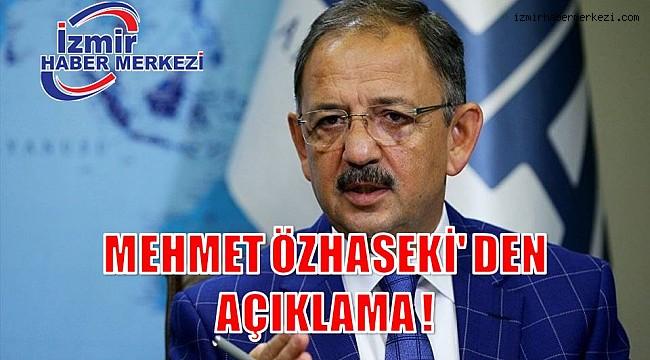 MEHMET ÖZHASEKİ' DEN AÇIKLAMA !
