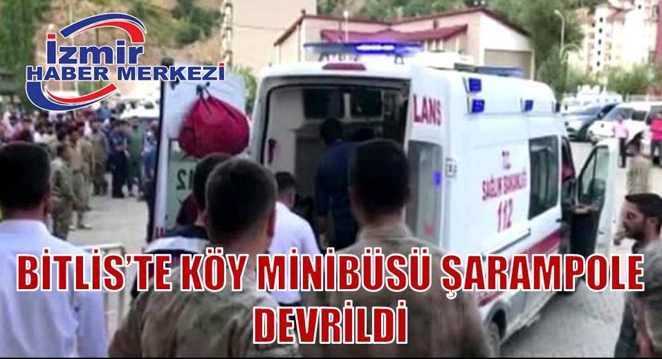 Son dakika: Bitlis'te köy minibüsü şarampole devrildi: 10 ölü, 7 yaralı