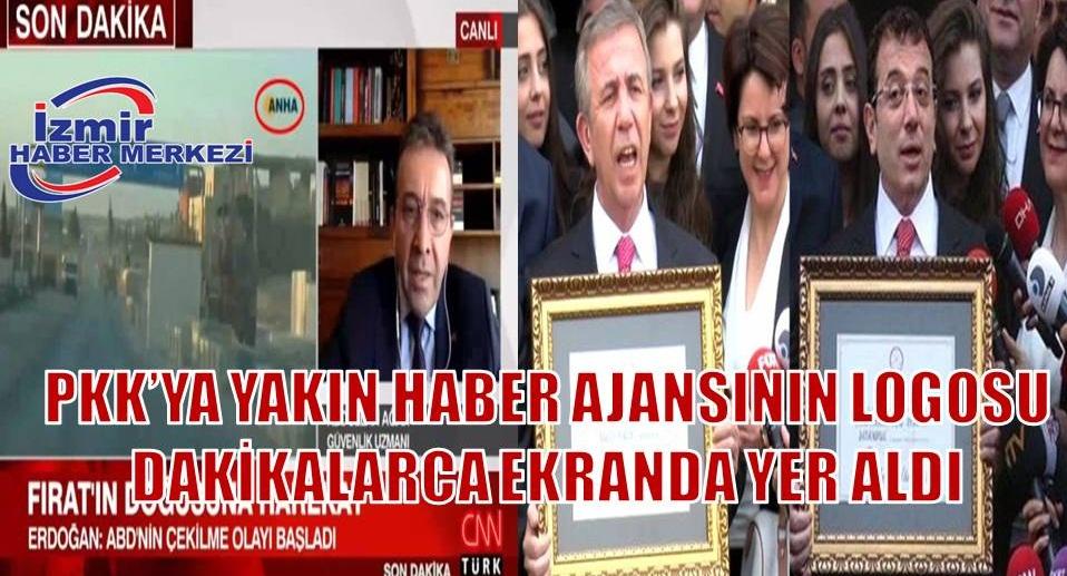 CNN Türk ekranlarında tepki çeken olay! Terör örgütü PKK-PYD'nin haber ajansının logosuna ekranda yer verildi