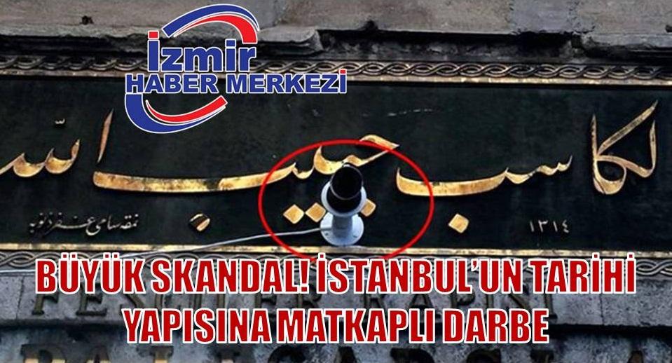 İstanbul'un simgesi Kapalıçarşı'da tarihi kitabe matkapla delindi