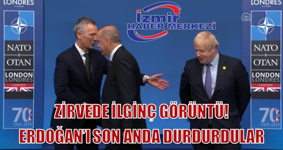 NATO Genel Sekreteri Stoltenberg ve İngiltere Başbakanı Johnson, fotoğraf çekilmeyi unutan Erdoğan'ı uyardı
