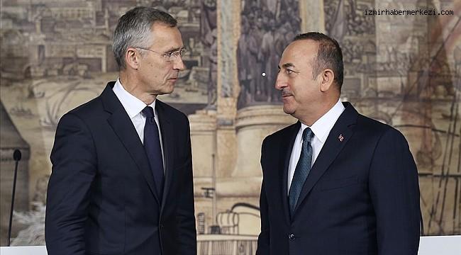Bakan Çavuşoğlu, NATO Genel Sekreteri Stoltenberg ile telefonda görüştü