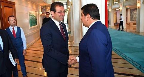 AK Partili belediye başkanlarından Ekrem İmamoğlu'na ziyaret